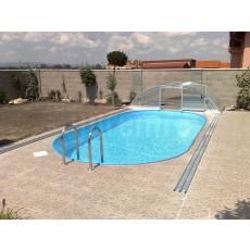 Bazén ovál s chrómovaným rebríkom