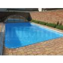 Bazén plastový obdĺžnik  6x3xm s chrómovaným rebríkom