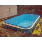 Bazén plastový hranatý  schody v rohu 6x3x 1,2 m