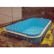 Bazén plastový obdĺžnik schody v rohu 6x3 m