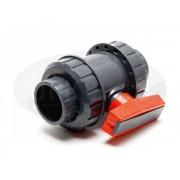 PVC Guľový dvojcestný ventil Ø75mm