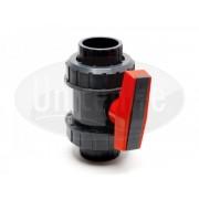 PVC Guľový dvojcestný ventil Ø50mm