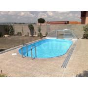 Bazén záhradný plastový ovál   6x3 m