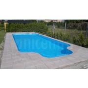 bazén plastový s lagúnou  6x3 m